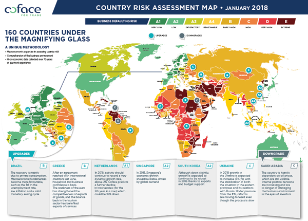 Country Risk Assessment Map January 2018